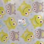 Baby Fleece Fabric Frogs
