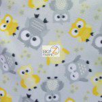 Baby Fleece Fabric Owls