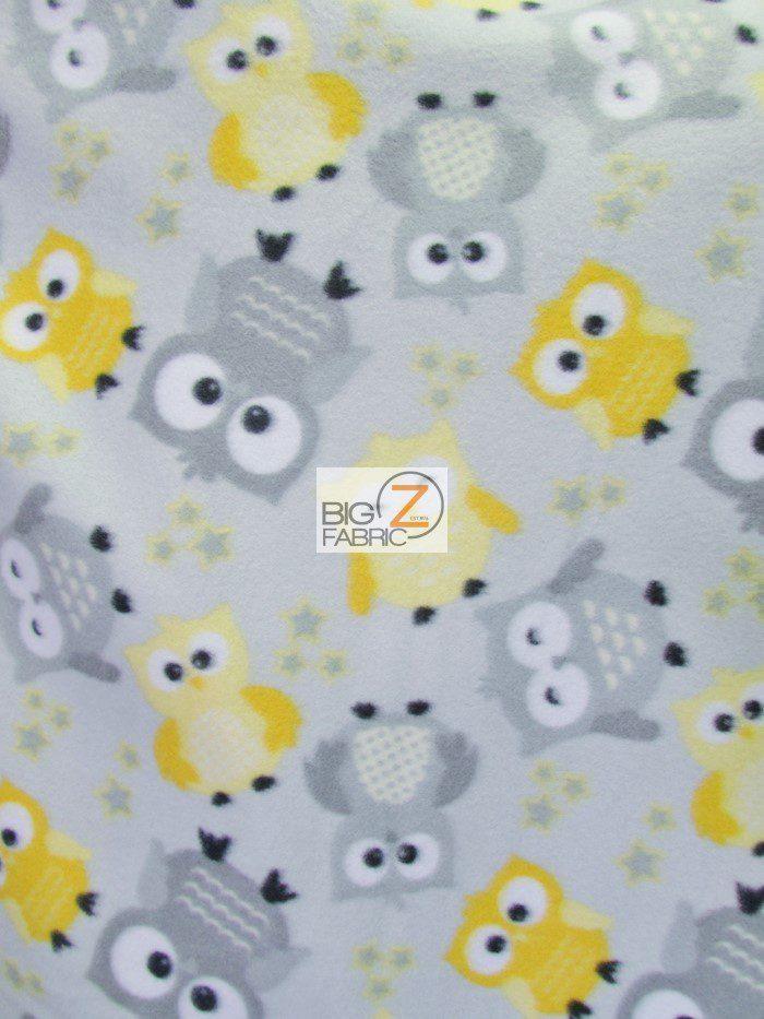 Baby Fleece Fabric Owls