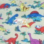 Baby Fleece Fabric Prehistoric Dinosaurs