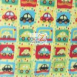 Baby Fleece Fabric Vintage Taxi Cab Toss