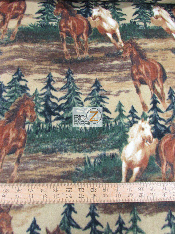 Baum Textile Mills Fleece Fabric Mustang Valley