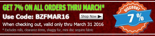 March 2016 Fleece Fabric Discount Coupon