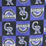 MLB Anti-pill Fleece Fabric Colorado Rockies