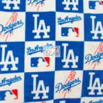 MLB Anti-pill Fleece Fabric LA Dodgers Retro