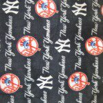MLB Anti-pill Fleece Fabric New York Yankees Cursive