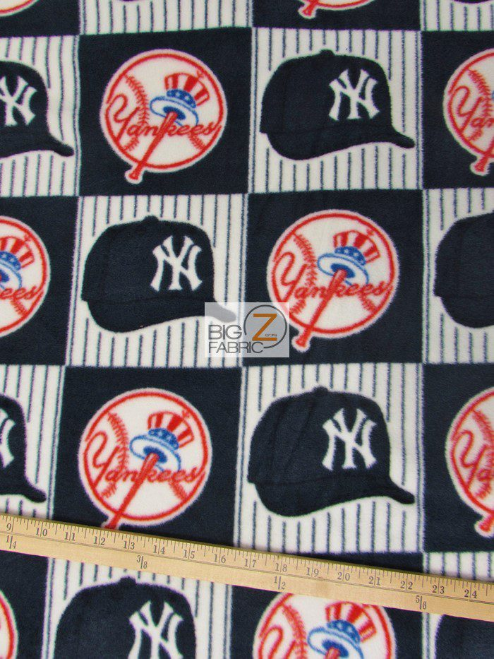 e744849d409e5 ... Athletics  MLB Anti-pill Fleece Fabric New York Yankees ...