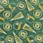 MLB Anti-pill Fleece Fabric Oakland Athletics