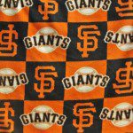 MLB Anti-pill Fleece Fabric San Francisco Giants