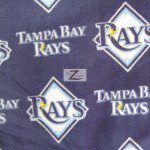 MLB Anti-pill Fleece Fabric Tampa Bay Rays