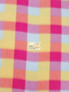 Rainbow Checkered Fleece Fabric