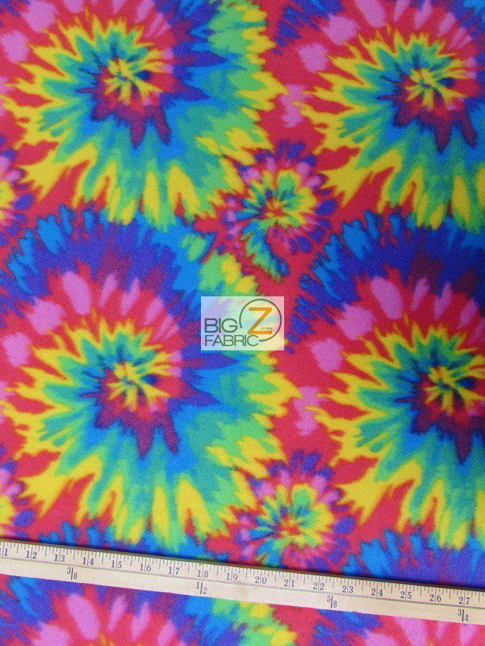 Tie Dye Anti-pill Fleece Fabric