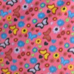 Butterfly Anti-pill Fleece Fabric Floral