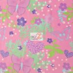 Butterfly Anti-pill Fleece Fabric Love