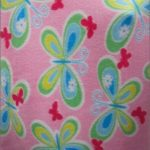 Butterfly Anti-pill Fleece Fabric Pink