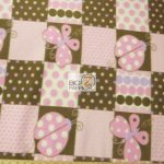 Butterfly Anti-pill Fleece Fabric Polka Dot