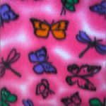 Butterfly Anti-pill Fleece Fabric Spring