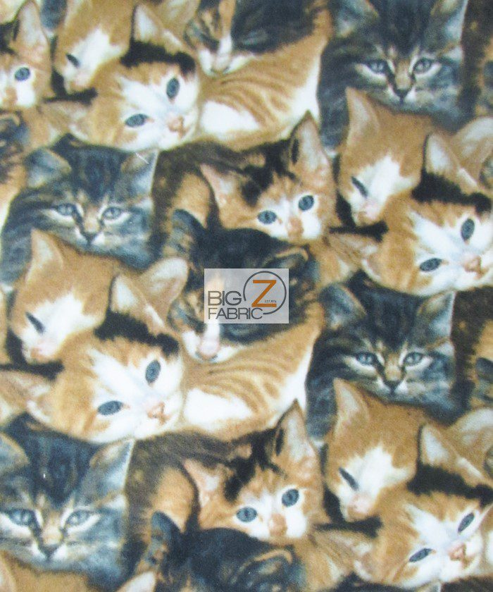 Wild Wings Cats All-Over Fleece Fabric