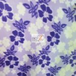 Hawaiian Flower Anti-pill Fleece Fabric Nights