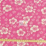 Hawaiian Flower Anti-pill Fleece Fabric Pink