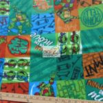 TMNT Retro Anti-pill Fleece Fabric