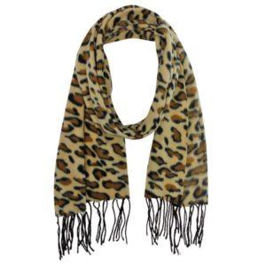 Animal Leopard Fleece Scarf