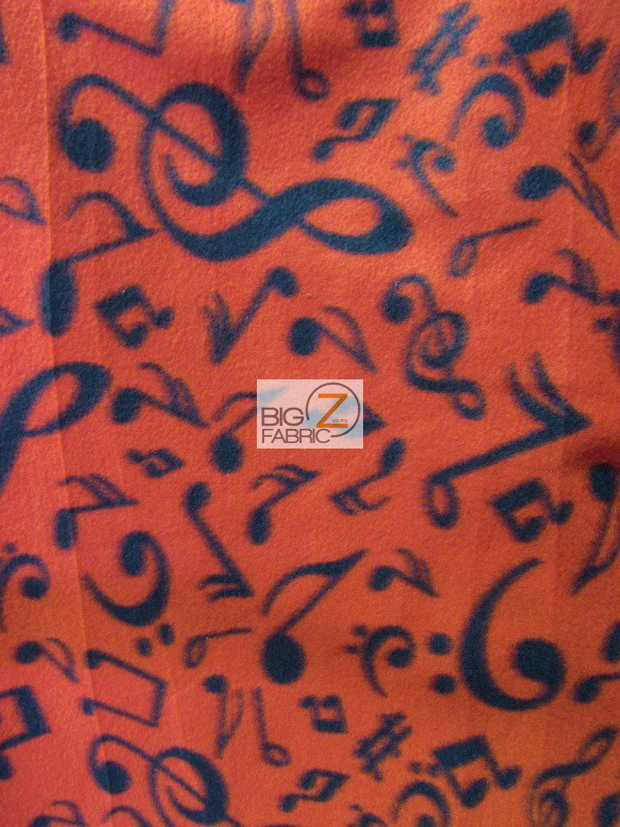 Musical Notes Anti-pill Fleece Fabric