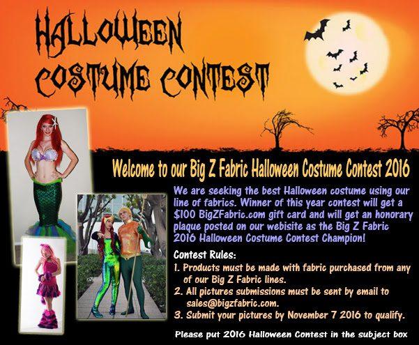 Big Z Fabric Halloween Fleece Costume Contest