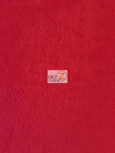 Solid Anti-pill Fleece Fabric Red