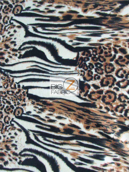 Animal Kingdom Zebra Anti-pill Fleece Fabric