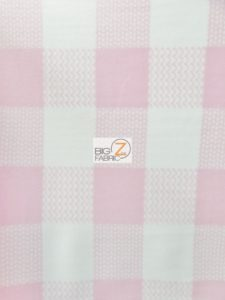 Pink/White Checkered Anti-pill Fleece Fabric