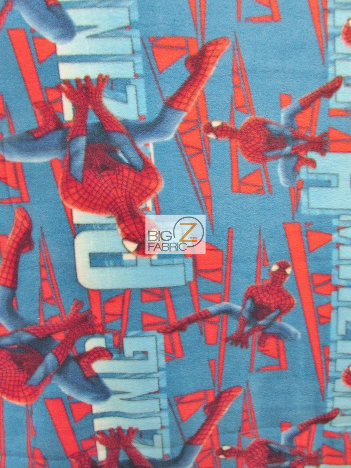 Amazing Spidey Electric Fleece Fabric