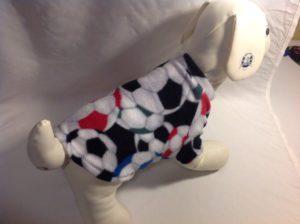 Soccer Balls Fleece Dog Shirt