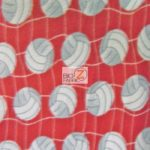 Volleyball Anti-pill Fleece Fabric Red