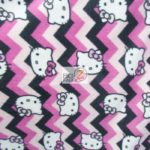 Hello Kitty Anti-pill Fleece Fabric Chevron
