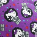 Hello Kitty Anti-pill Fleece Fabric Kiss