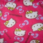 Hello Kitty Anti-pill Fleece Fabric Yellow Bows
