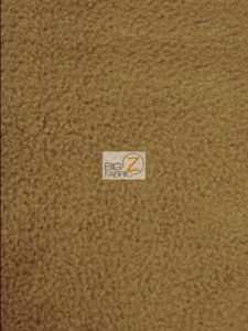 Solid Anti-pill Fleece Fabric Dark Caramel