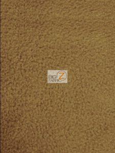 Solid Anti-pill Fleece Fabric Dark Caramel