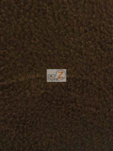 Solid Anti-pill Fleece Fabric Brown