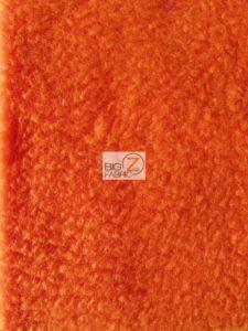 Solid Anti-pill Fleece Fabric Carrot Orange