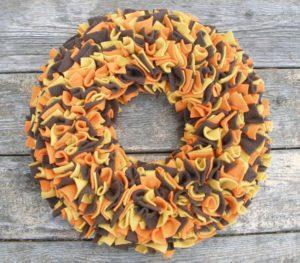 Thanksgiving Fleece Wreath