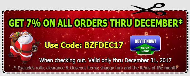 Save 7% Off – Anti-pill Fleece Fabric December Sale