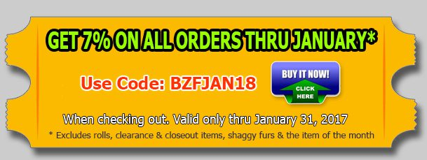 Big Z Fabric's New Year Fleece Fabric Discount!