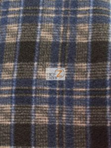 Scott Checkered Color #2 Anti-pill Fleece Fabric