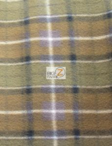 Scott Checkered Color #4 Anti-pill Fleece Fabric