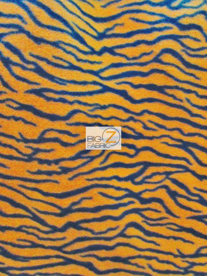 Orange Small Stripes Zebra Anti-pill Fleece Fabric