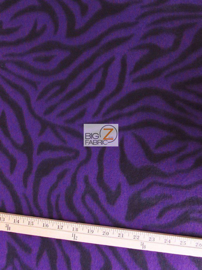 Purple Stripes Zebra Anti-pill Fleece Fabric