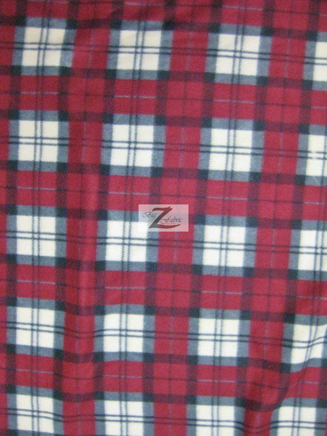 plaid anti pill fleece