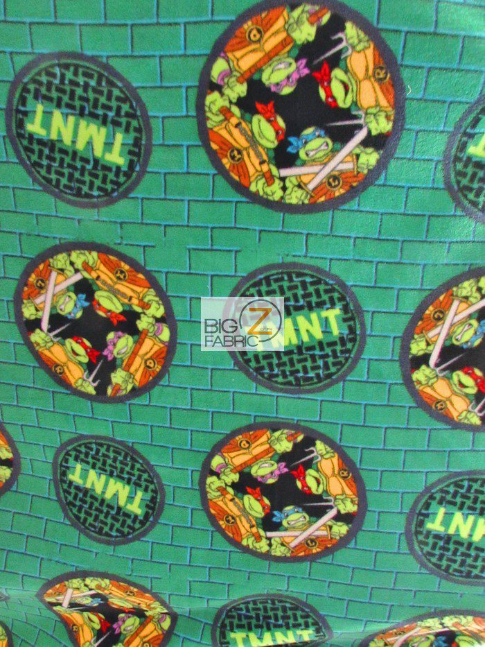creative fleece TMNT print